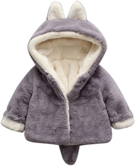 Baby Coat,Deloito Infant Baby Girls Boys Kids Dress Clothes Cute Spring Summer Autumn Winter Hooded Coat Cloak Jacket Thick Warm Long Sleeve Jacket Outwear for 0-3Y