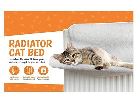London Empire ® Cesta de forro polar para radiador de gato o perro, diseño de