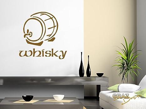 Adesivo da parete per cucina gestalten wand whisky con scritta