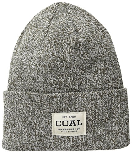 Coal Men's the Uniform Fine Knit Workwear Cuffed Beanie Hat, Olive Marl, One Size