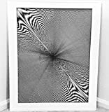 Moire Pattern, Hand Drawn, Framed, 82 Hours 58 Minutes