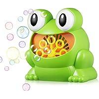 Kidsidol Máquina automática de Burbujas soplador de Forma de Rana portátil Fabricante de Burbujas Grandes Regalos para niños bebés (Verde)