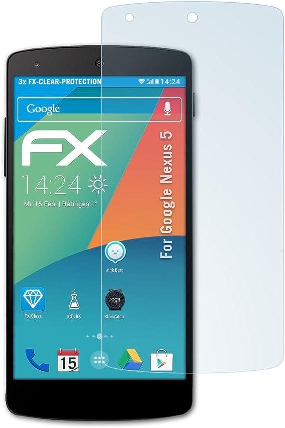 atFoliX Lámina Protectora de Pantalla Compatible con Google Nexus ...
