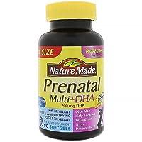 Nature Made PrenatalMulti + DHA 200 Mg Softgels, Value Size, 60 + 30 Liquid softgels...
