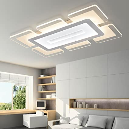 Techo led lámpara de techo moderna minimalista delgada SSLW sala de estar dormitorio lámpara de iluminación creativa de acrílico , white , 60*40*4