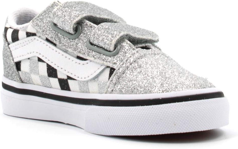 Vans New Old Skool Infant Glitter CHKRBRD SVRTRWHT JNV3J