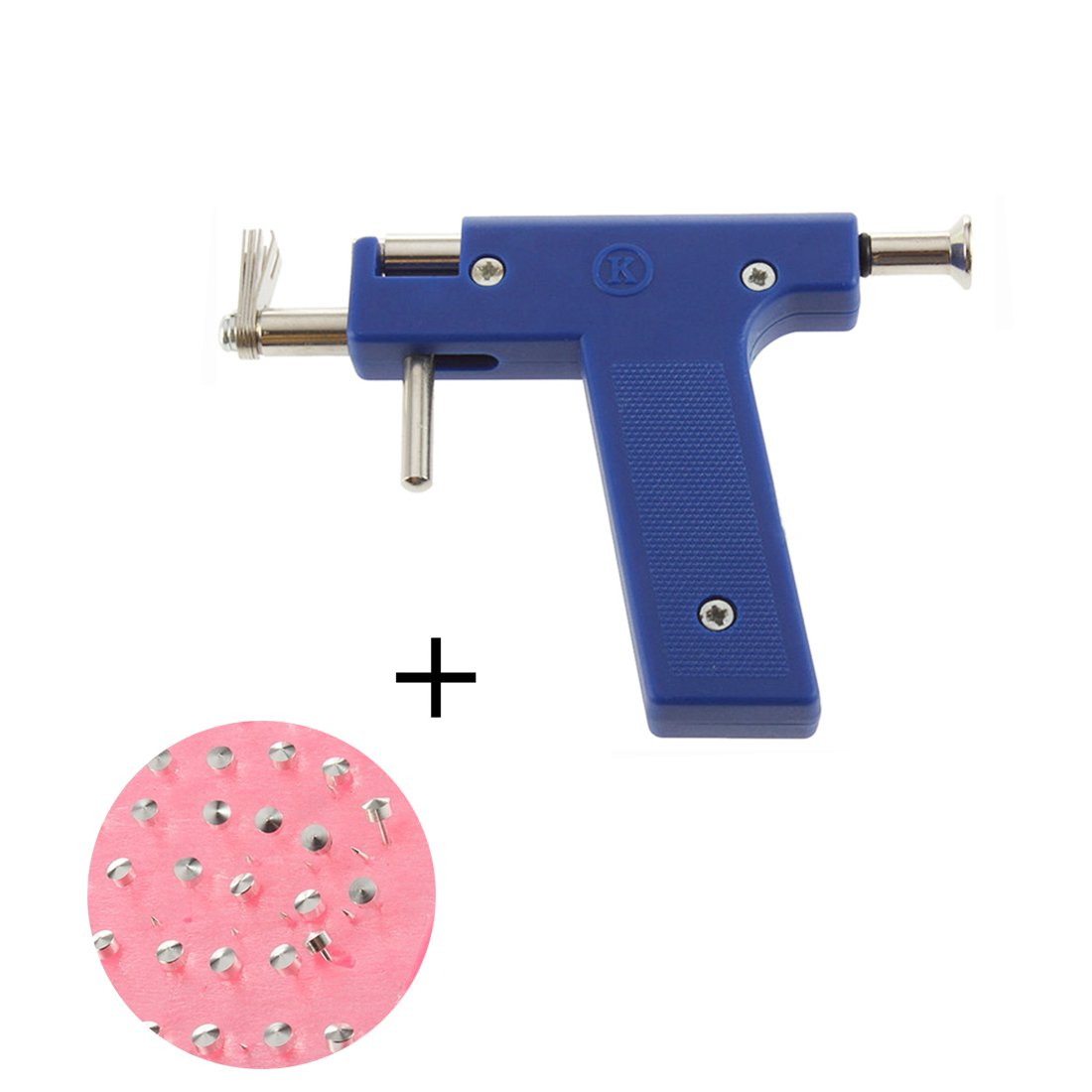 Professional Ear Piercing Gun Tool Set + 98pcs Ear Studs Steel Ear Nose Navel Body Piercing Gun Unit Tool Kit by ruipuplr (Image #1)