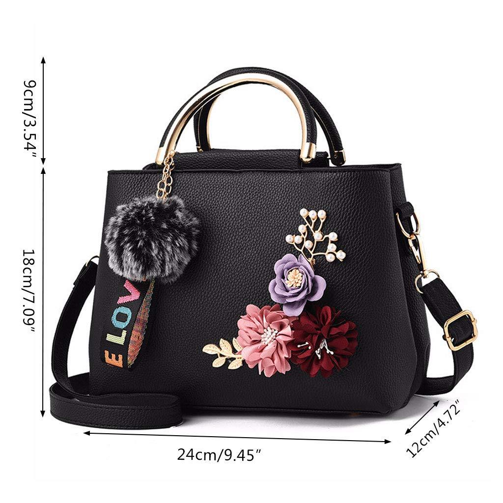 Shoresu Women Shoulder Bag Yellow Womens Handbag Flower Single Shoulder Bag Crossbody Messenger Hobo Tote Top Handle Bags