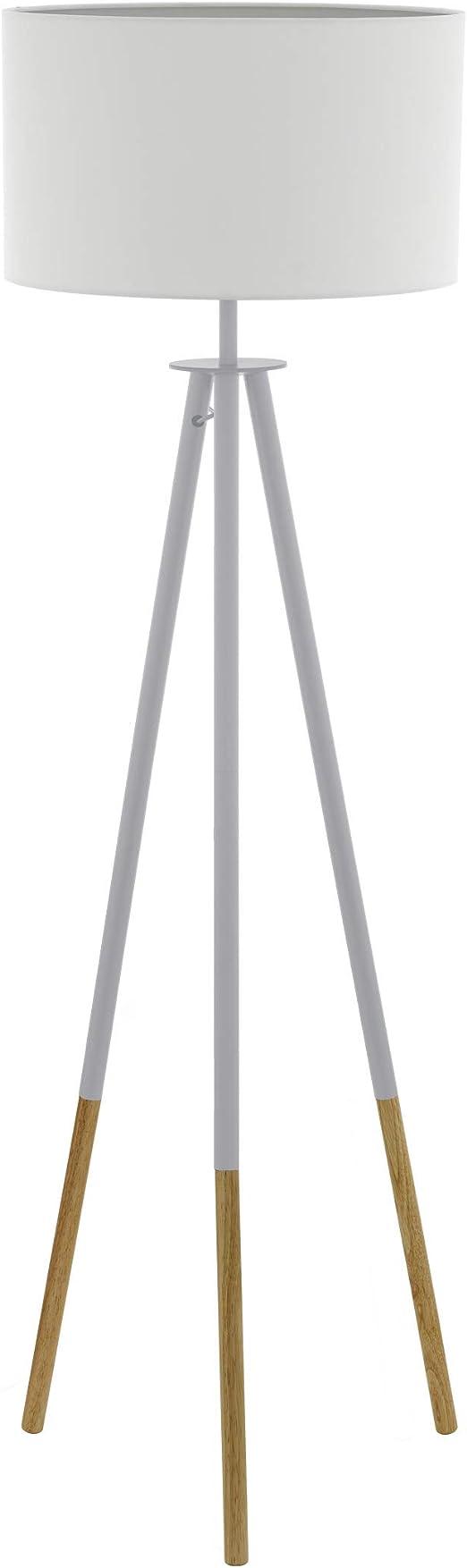 EGLO 49156 Lámpara de pie, 60 W, Braun, Weiss