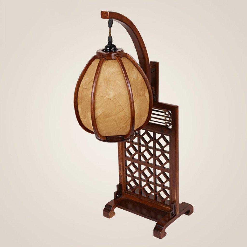 & MUYUAN @ - Chinesische Nachahmung Klassische Holz Tischlampe Kreative Atmosphäre Wohnzimmer Studie Zimmer Licht Art und Weise Tee Haus Schlafzimmer Nachttisch Lampe