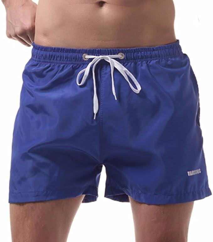 Sommer Herren Fitnessstudio Sport Jogging Shorts-Hosen Freizeit Strand Einfarbig