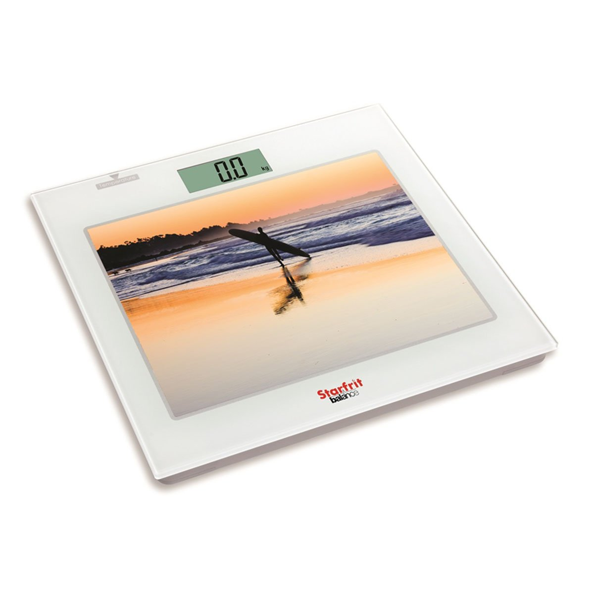 Starfrit Balance 93848 Electronic Bathroom Scale with Picture Insert, White 093848-001-0000