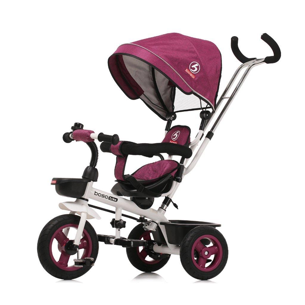 子供の足三輪車バイクベビーバイク1-5ベビートロリー双方向ステアリングベビーカー、紫、緑、73 * 48 * 103センチメートル ( Color : Purple ) B07C7WYT5N