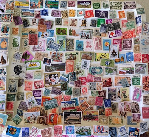 100 worldwide stamps, as shown