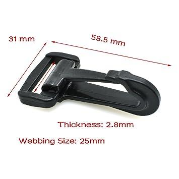 50mm Metal Swivel Snap Hook Clip Bag Belt Strap Webbing Cord Snap Buckle G Type