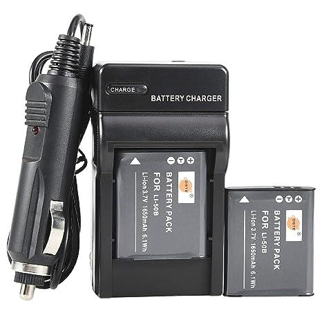 Amazon.com: DSTE® 2 x Batería LI-50B + DC16 Viaje y cargador ...