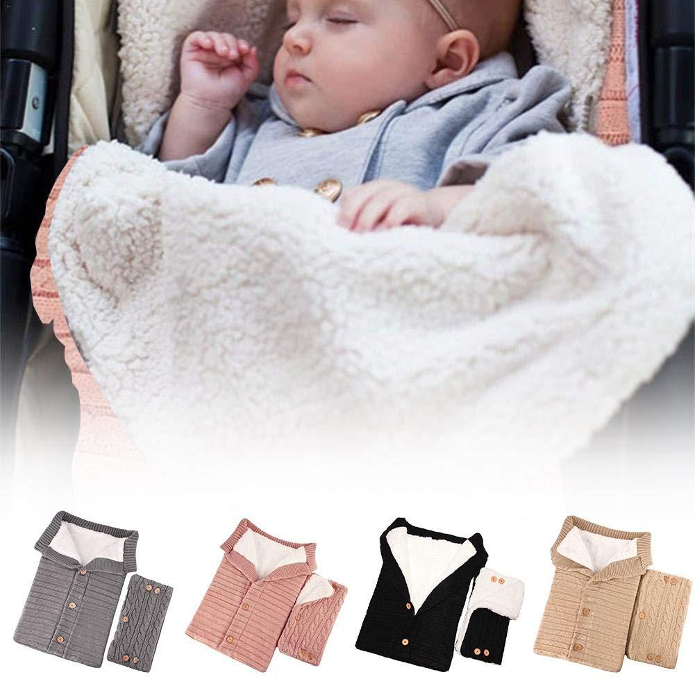 strety Baby Winter Schlafsack S/ü/ße Maschen Stricken Kinderwagen Samt Warme Tasche Mit Handschuhen F/ür Camping Draussen Pucks/äcke
