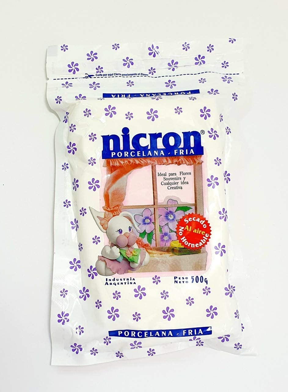 500 Grams Nicron Cold porcelain 1.1 lb Air Dry Modeling Clay