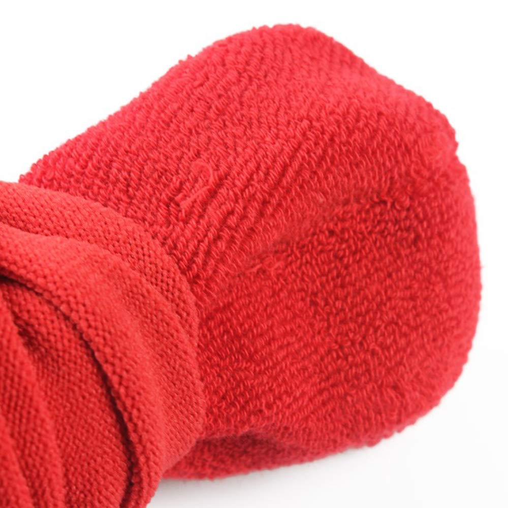 Tcplyn Durable Kids Non Slip Long Compression Sock High Elastic Breathable Soccer Running Sports Socks Red