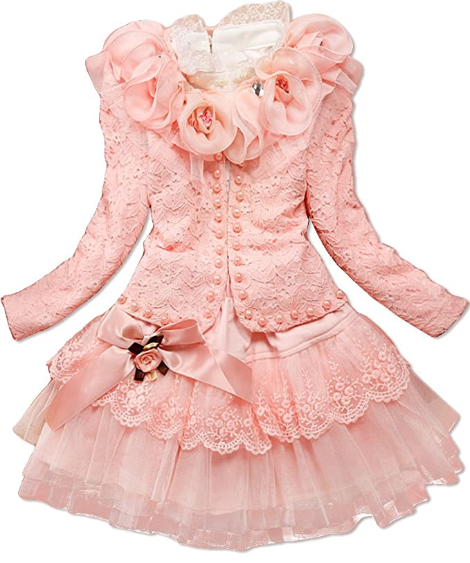 Amazon Dolpind Baby Girls 3 Piece Cardigan Clothes Kids TuTu Dress Outfit Clothing 5T 4 5 Years Light Pink