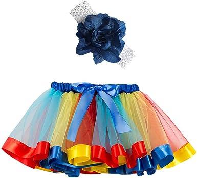 Sunenjoy - Falda de Baile para niña de 4 a 10 años, Falda de Tul ...