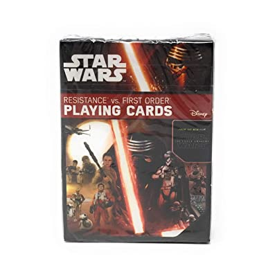 "Resistance Vs. First Order Cartamundi 1831 3.5"" Star Wars The Force Awakens Playing Cards: Toys & Games"