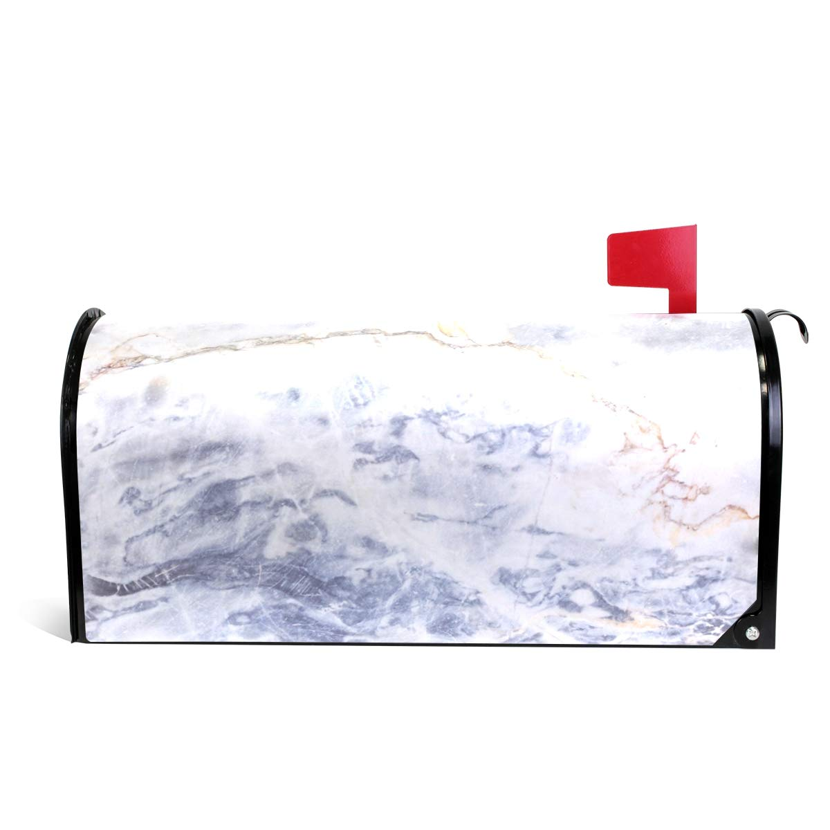 WOOR Gray Light Marble Magnetic Mailbox Cover Oversized-20.8''x 25.5''