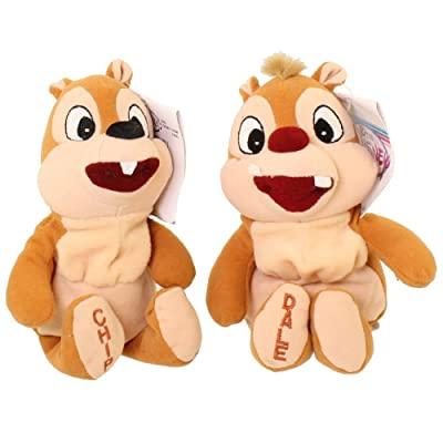 "Disney Set of 2 Chip and Dale Bean Bag 8"" Plush Dolls: Toys & Games"