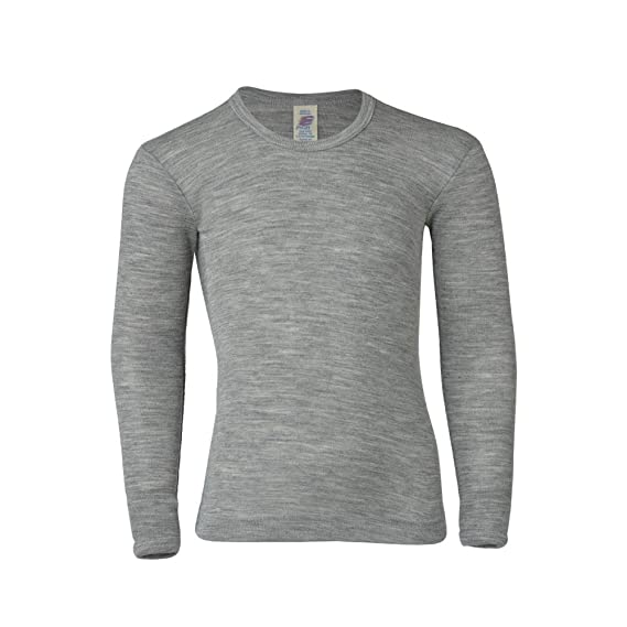 aaf4753f0444cd Engel Baby Kinder Unterhemd Shirt Langarm Reine Bio-Wolle Seide