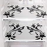 Kuber Industries Birds Design 6 Piece PVC Refrigerator Mat Set - Multicolour