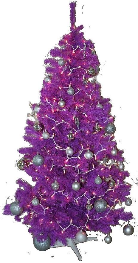 Amazon.com: Homegear 6FT Artificial Purple Xmas/Christmas Tree: Home ...