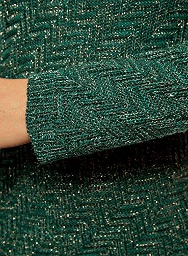 Striscie Donna 696em Diagonali oodji Ultra Testurizzato con Maglione Verde CXnpwgq