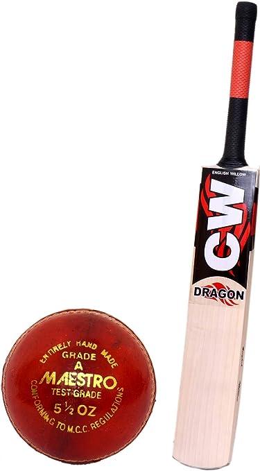 3M Dragon - Bate de críquet inglés de Sauce con Bola de Cricket de ...
