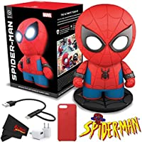 Sphero Spider-Man Interactive App-Enabled Superhero + Cube + Charging Cable for MicroUSB and Lightning Cable + Red leather Case Bundle
