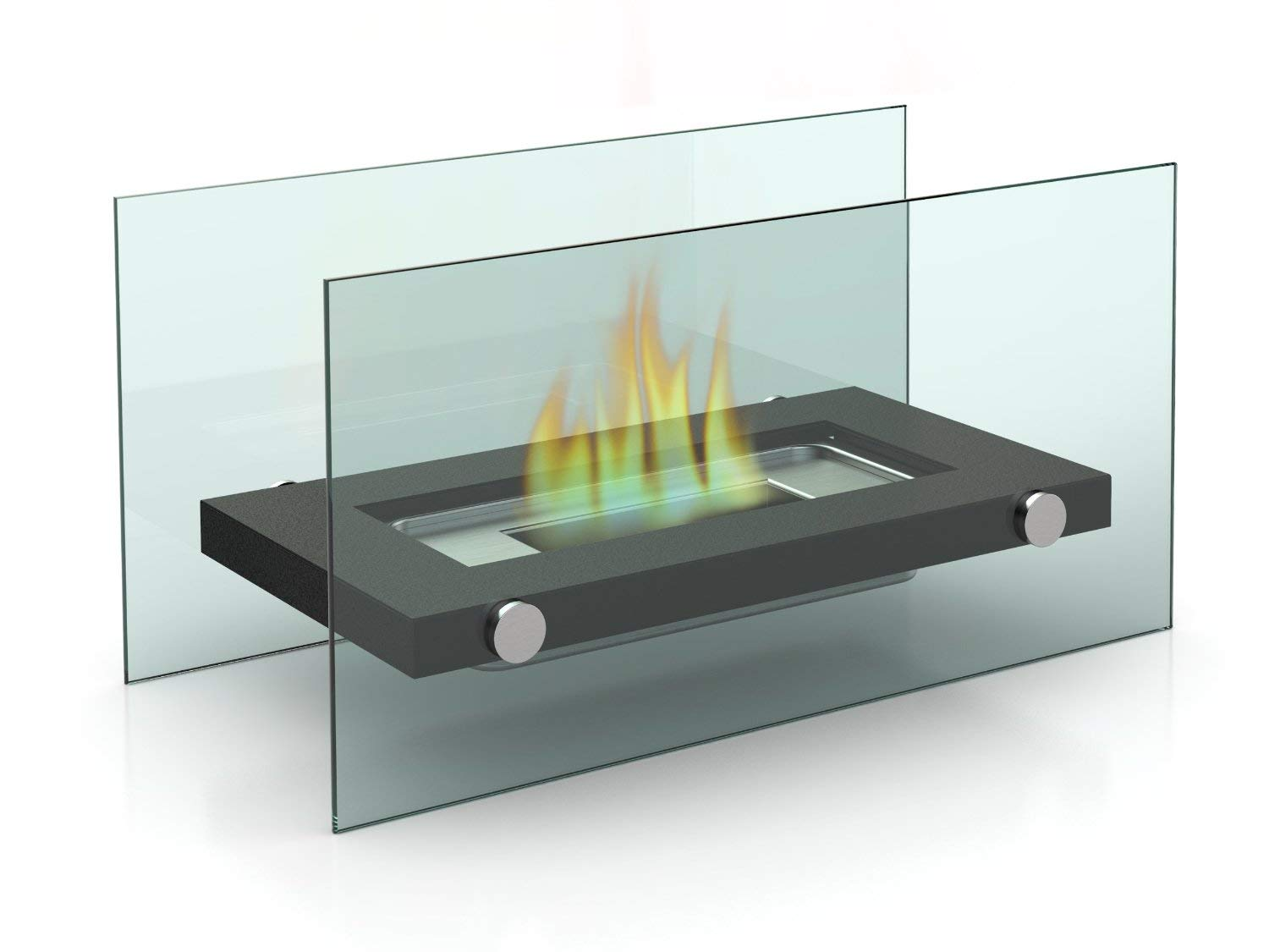 keinode Bio Ethanol Fireplace Burner Heater Fuel Ventless Table Top Portable Eco Glass Cube Ventless Indoor Outdoor Fire Pit Tabletop Portable Fire Bowl Pot by keinode