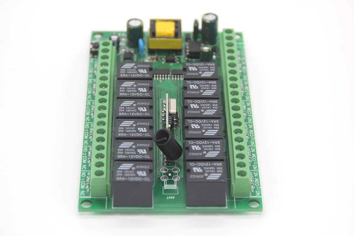 lejin lejin lejin radiocontrol de 12 canales receptor de radio Sistema de conexión Radio AC230 V 12 Tecla de emisor y receptor para luz Motor Bomba 500 m de alto alcance inalámbrico mando a distancia Interruptor multifunción de 12 canales recepto 3b9c64