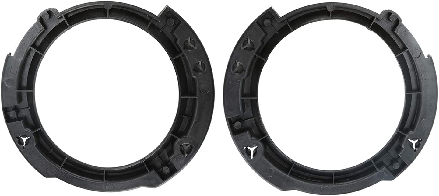 Kutang Modified 7 inch Headlight Mount Retaining Bracket Ring Replacement w// 3 Plastic Studs for 2007-2018 Jeep JK Wrangler