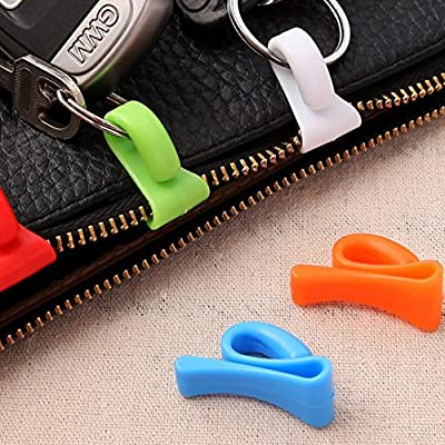 Home & Garden Hooks & Rails Colorful 2pcs Home Plastic Novelty Mini Cute Creative Anti-lost Hook Within The Bag Key Storage Holder Rack Bag Hooks