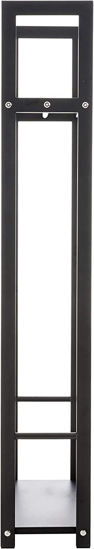 o Metal Negro I Soporte Moderno para Le/ña I Le/ñero Estanter/ía De Chimenea I Acero INOX Tama/ño:25x40x100 cm CLP Le/ñero De Interior Snow En 2 Variantes Color:Negro