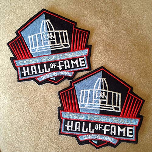 2-NFL PRO Football Hall of Fame Canton Ohio Logo Iron-on Jersey/Jacket Patches