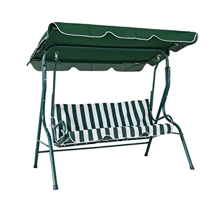 Amazon Com Lucky Tree 3 Seat Outdoor Porch Swing Canopy Patio
