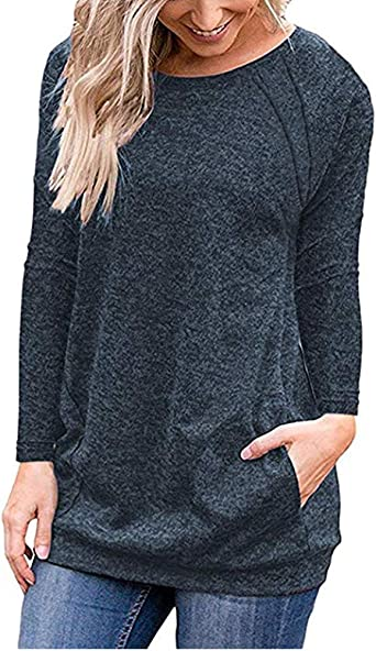 Lalala Mujer Camisas Manga Larga Elegante Moda Collar Blusa T ...