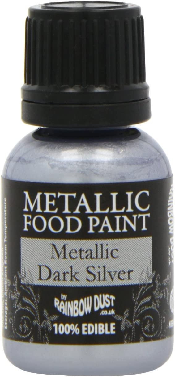 Rainbow Dust Metallic Paint Dark Silver