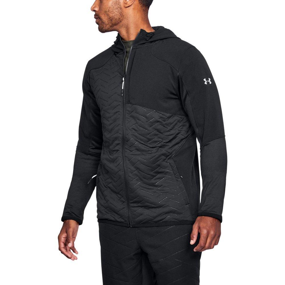 Under Armour Mens Coldgear Reactor Fleece Insulated Full Zip Hoodie Jacket
