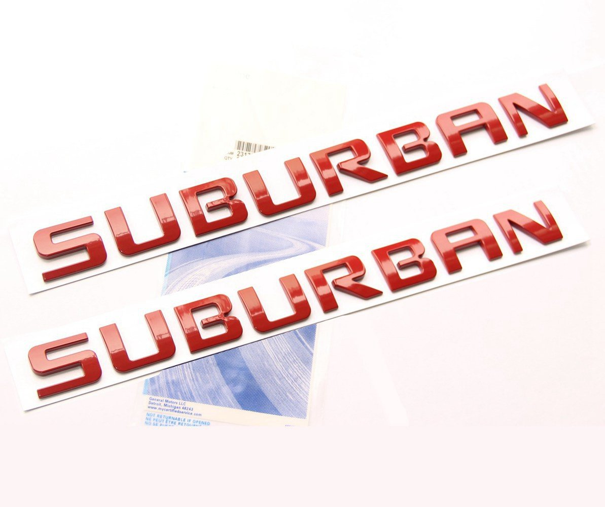 Yoaoo 2x OEM Black Suburban Nameplate Emblems Letter Badge Replacement for Gm 07-16 Suburban Glossy Shiny