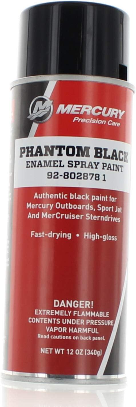 OEM Mercury Marine Outboard Precision Phantom Black Spray Paint 92-802878 1