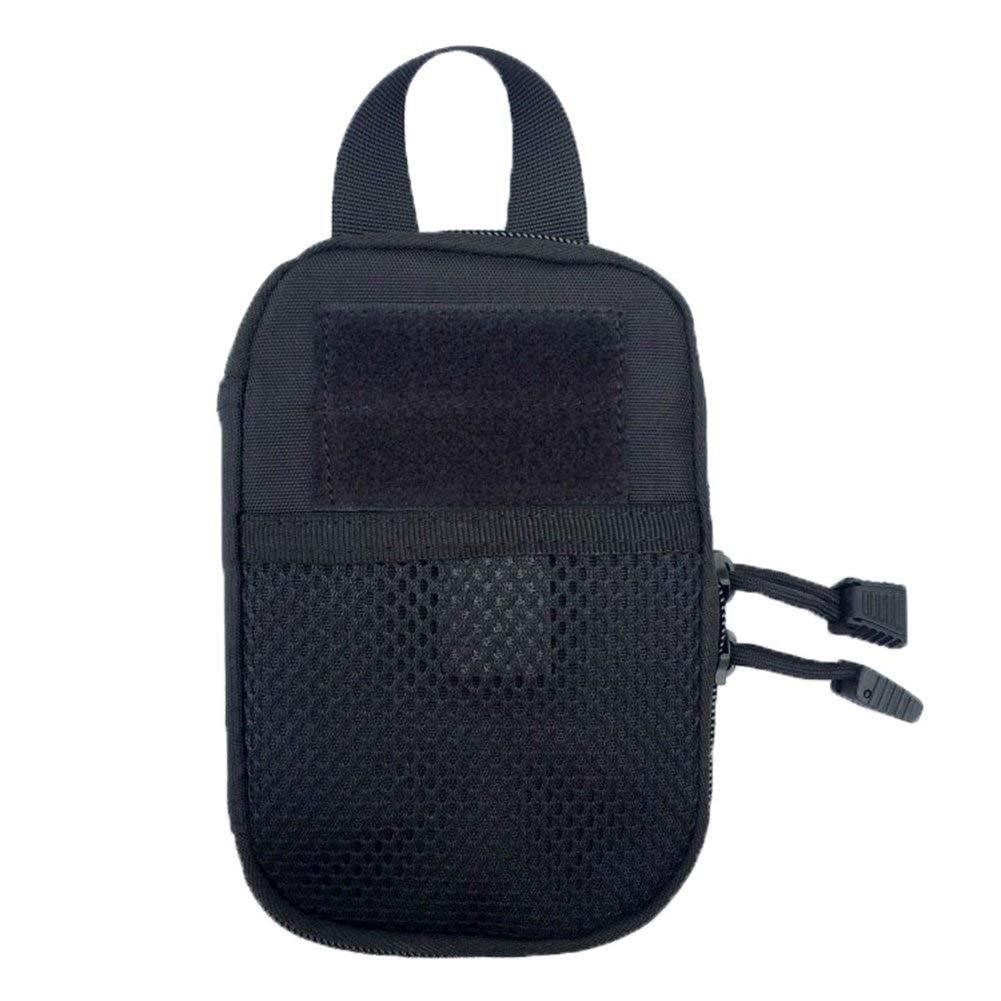 Ogquaton Premium Qualit/é Poche Tactique en Plein Air Molle EDC Utilitaire Gadget T/él/éphone Organisateur De Stockage Sac Pochette Noir