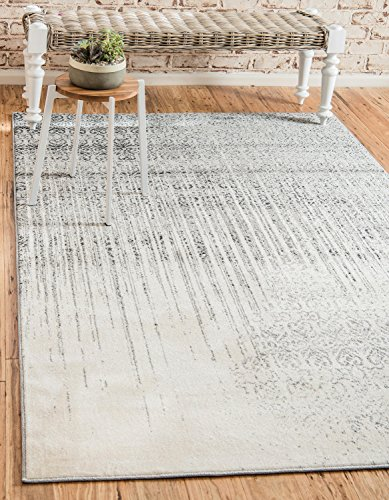 Unique Loom Del Mar Collection Contemporary Transitional Gray Area Rug (9' x 12')