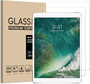"""Pokanic - 2 Pack, iPad Air 2 / Air 1 / iPad Pro (2016) / iPad 6 / 5 / 4 Screen Protector 9.7"""" Apple Pencil Compatible HD Tempered Glass 9H Films, Anti-Scratch Anti-Fingerprint Easy Install Compatible with Apple iPad 9.7"""" (2 Pack)"""