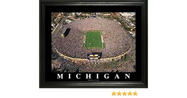 Under The Lights Michigan Football End Zone Blakeway Panoramas College Sports Posters
